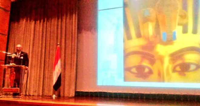 Dr Tarek Tawfik, Director of the Grand Egyptian Museum Project, opens the conference