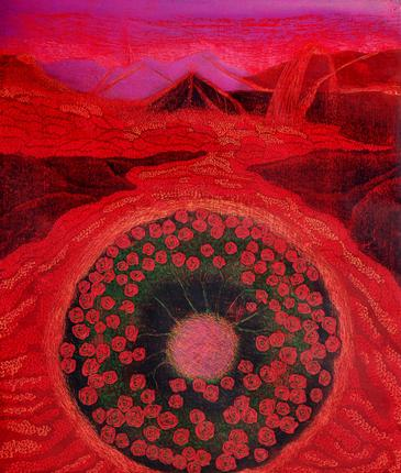 A woodcut etching by Sogra Khurasani, via http://www.thehindu.com/features/metroplus/my-name-is-red/article6630020.ece