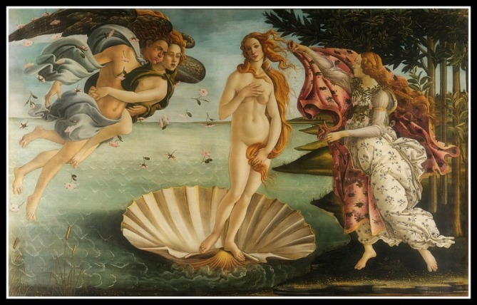 """The Birt of Venus"" by Sandro Botticelli (1486).-"