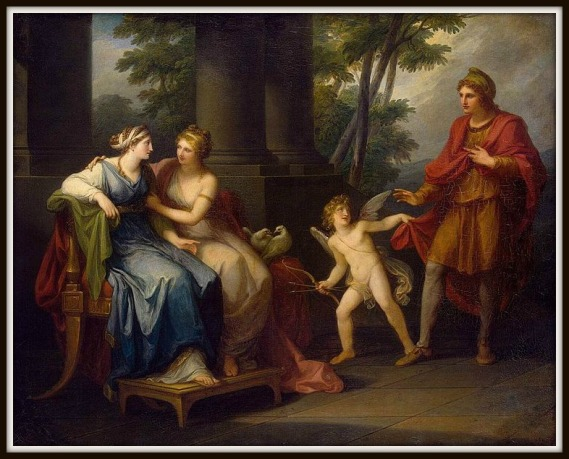 """""""Venus Induces Helen to Fall in Love with Paris"""" by Angelica Kauffmann.-"""