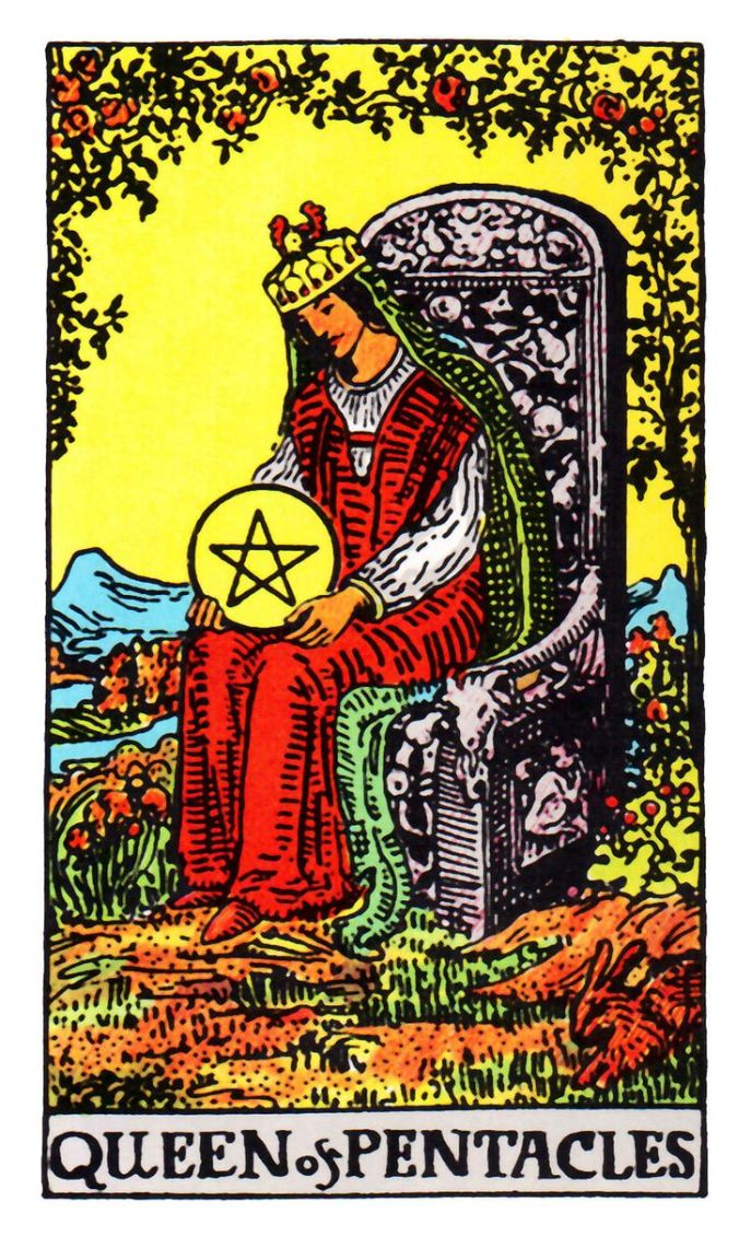 RW-Queen-of-Pentacles