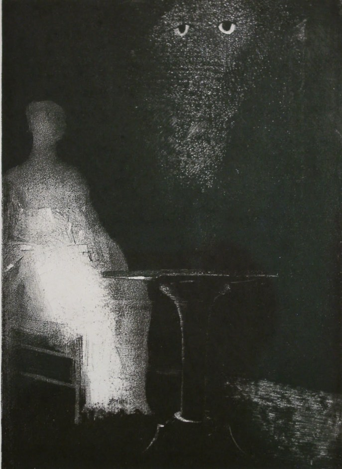 gr194-odilon-redon-1840-1916-i-saw-above-the-misty-outline-of-a-human-form-1896[1]