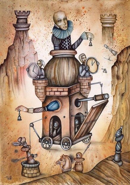 SteamPunk art harlequin chess-Eugene_Ivanov_2361