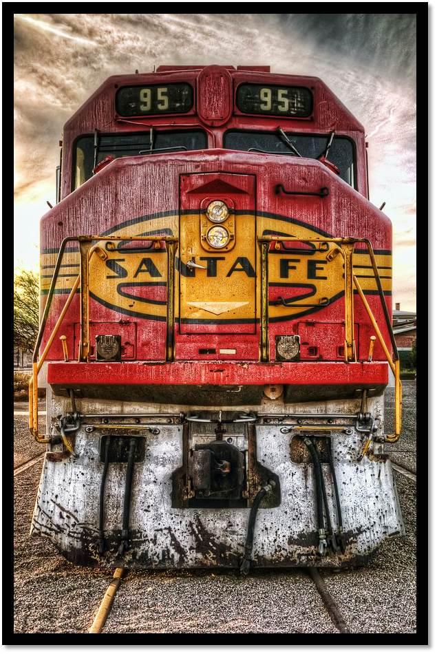 Abandoned Locomotive Santa Fe