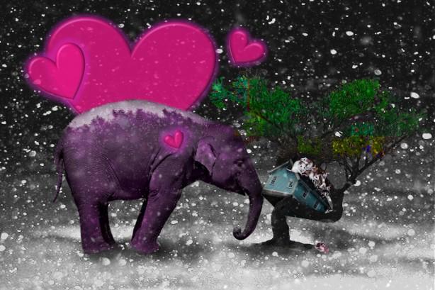 Elephant mice tree house HEARTS_Pixaby