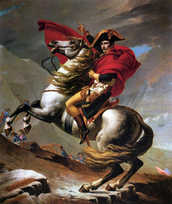 jacques-louis_david_-_napoleon_crossing_the_alps_-_kunsthistorisches_museum
